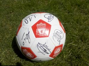 Liverpool official autographed item