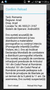 Virus Politia Romana pe Android